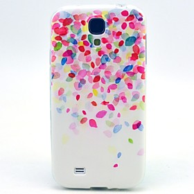 Small Red Flowers Pattern TPU Soft Cover for Samsung Galaxy S4 I9500 coupon codes 2016