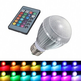 E27 Large screw 9WRGB Balloons Colorful Remote Control Color LED Energy-saving lamps 3178766