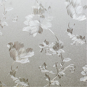 Window Film  Stickers Decoration Country Floral PVC / Vinyl Window Film / Dining Room / Bedroom / Living Room