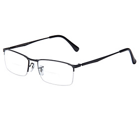 LianSan [Free Lenses] Bifocal Rectangle Half-Rim Reading Eyeglasses