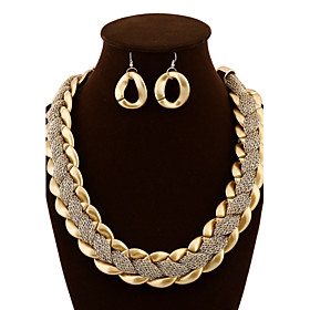 Women's Jewelry Set - Statement, Luxury, Vintage Include Drop Earrings Statement Necklace Gold For Party Special Occasion Anniversary