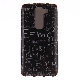 For LG Case Pattern Case Back Cover Case Word / Phrase Soft TPU LG 3334706