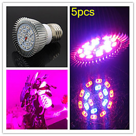 5pcs MORSEN E27 8W 200LM 12Red and 6Blue SMD18 LED Bulbs for Flowering Plant Hydroponic System Led Grow Light (85-265V)