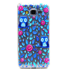 For Samsung Galaxy Case Transparent / Pattern Case Back Cover Case Owl TPU Samsung Grand Prime 3255316