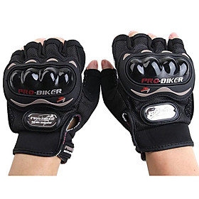 PRO-BIKER MCS-04C Motorcycle Racing Half-Finger Protective Gloves 3409052