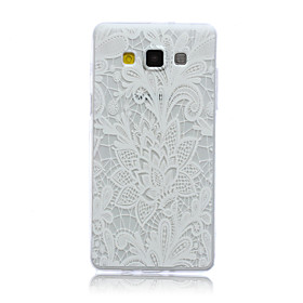 White Flower Pattern Ultrathin TPU Soft Back Cover Case for Samsung Galaxy A5 sale off 2016