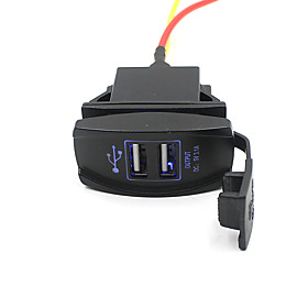 Car Truck Boat Accessory 12V 24V Dual USB Charger Power Adapter Outlet Nice