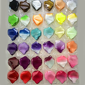 100 Pcs Artificial Rose Petal For Decoration Party Wedding Multicolor Optional