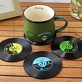 Vintage Vinyl Coaster Groovy CD Record Table Bar Drinks Cup Mat 1Pc (Ramdon Color) 3278991
