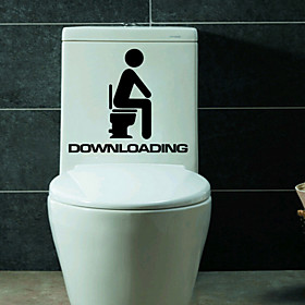 Wall Stickers Wall Decals Style The Toilet And Bathroom Decoration PVC Wall Stickers 3702156