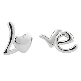 Women's Stud Earrings - Sterling Silver, Silver Silver For Wedding Party Daily