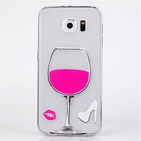 Thin Transparen Relief Red Wine Soft TPU Phone Case for Samsung Galaxy S6 3374817