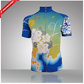 100% Polyester Fiber Short Sleeve BreathableQuick-Drying Women Cycling Jersey