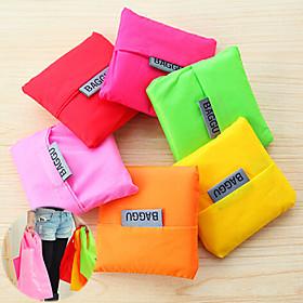 store kapacitet mode genanvendeligt lager indkøbspose fold-stand indkøbsposer tote (tilfældig farve) 3468440