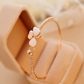 Opal Cuff Bracelet - Cubic Zirconia, Rhinestone, Opal Love Unique Design, Work, Casual Bracelet Screen Color For Party Gift Valentine