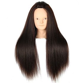 YAKI Synthetic Hair Salon Female Mannequin Head No Make-up 3284204