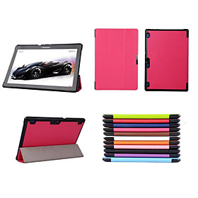 Image of 10.1 Inch Triple Folding Pattern High Quality PU Leather for Lenovo TAB 2 A10 A10-70 (Assorted Colors)