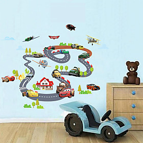 Wall Stickers Wall Decals, Children Auto Orbit PVC Wall Stickers 3376452