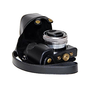 dengpin pu tampa da caixa de couro câmera saco para sony ilce-6000L A6000 ILCE-6000 com lente 16-50mm (cores sortidas) 3672753