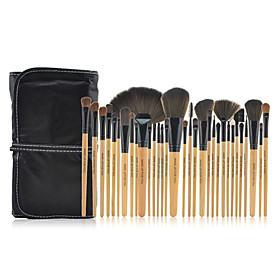 32pcs Natural Color Cosmetic brush Kit Tool Professional Makeup Brushes Set Case Make Up Brush Set 3716219