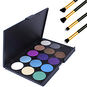 15 Colors Professional Warm Makeup Nude Eyeshadow Matte Shimmer Palette Cosmetic4PCS Pencil Makeup Brush 3778797