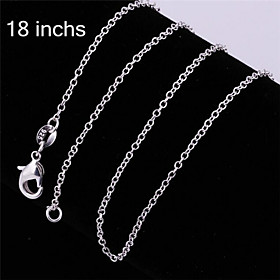 Men's Women's Chain Necklace - Sterling Silver, Silver Classic, Fashion Silver Necklace Jewelry For Party, Daily, Casual