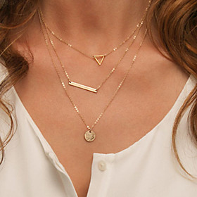 Women's Alloy Layered Necklace - Alloy Simple Style Necklace For 3597934