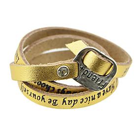 New Fashion Jewelry Multilayers Long Women Pu Leather Bracelet 3726093