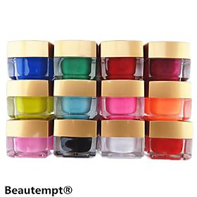 12PCS Mixed Color Pure Color UV Builder Gel UV Color Gel Polish Set Nail Art Decoration(8ML) 1905484