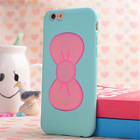 Bow Bracket Shell Phone Silicone Material for iPhone 6S Plus/6 Plus(Assorted Colors) 3670190
