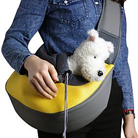 Cat Dog Carrier  Travel Backpack Shoulder Bag Pet Baskets Solid Colored Portable Breathable Green Blue Pink For Pets