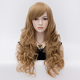 Womens Girls Fashion  Curly Long Synthetic Hair  Full Wigs Brown 3605230