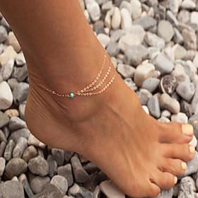 bohemien cavigliera turchese sandali a piedi nudi dei monili 1pc sposa cavigliera 3654954