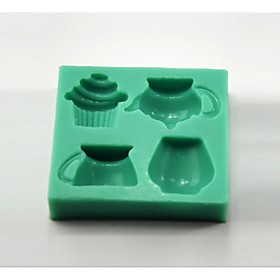 Teapot Teacup Cupcake Shaped Fondant Cake Mould Chocolate Silicone Mold/Decoration Tools For Kitchen Baking 3693485