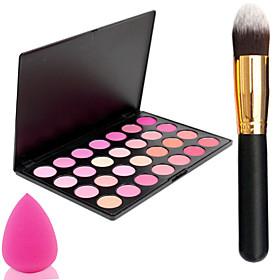 Pro Party 28 Colors Face Blush Blusher Powder Palette  Powder BrushPowder Puff 3755491