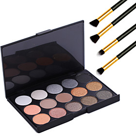 15 Colors Professional Warm Makeup Nude Eyeshadow Pearl light Shimmer Palette Cosmetic4PCS Pencil Makeup Brush 3778795