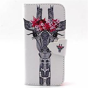 Для Кейс для iPhone 5 Кошелек / со стендом / Флип Кейс для Чехол Кейс для Животный принт Твердый Искусственная кожаiPhone 7 Plus / iPhone