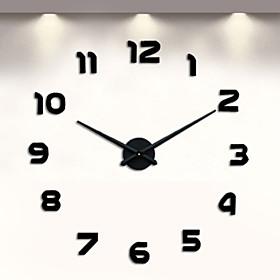 Digital Large Wall Clock 3D DIY Clock Acrylic Stickers Quartz Modern Home Decoration 3956273