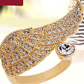 Women's Band Rings Fashion Cubic Zirconia Imitation Diamond Alloy Wings / Feather Jewelry Party