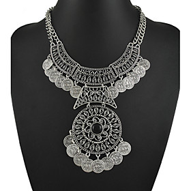 Tribal statement necklace Ethnic jewelry gypsy coin Vintage necklace 3971341