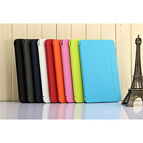 SHI CHENG DA Case For Samsung Galaxy / Tab A 8.0 Samsung Galaxy Case with Stand / Flip / Origami Full Body Cases Solid Colored PU Leather for Tab 4 8.0 / Tab 3