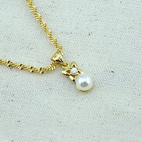 18K Golden Plated Pearl Pendant