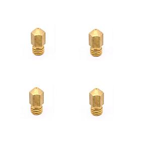 0,2 0,3 0,4 0,5 mm tête de buse en laiton 3d makerbot d'imprimante MK8 - 1,75 mm (4 pièces) 3889999