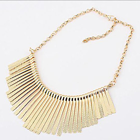 Women's Tassel Choker Necklace / Statement Necklace - Tassel, European, Fashion Black, Silver, Golden Necklace Jewelry For Party, Daily, Casual