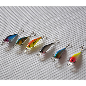 65mm 4.5g Mini  Minnow Hard Bait Fishing Lure Set (6pcs/set) 3837429