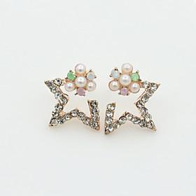 Women's Crystal Stud Earrings - Pearl, Imitation Pearl, Rhinestone European, Fashion Gold / Silver For / Gold Plated / 18K Gold / Imitation Diamond / Austria C