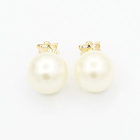 Women's Crystal Stud Earrings - 18K Gold Plated, Pearl, Imitation Pearl European, Fashion White / Black For / Imitation Diamond / Rhinestone / Austria Crystal