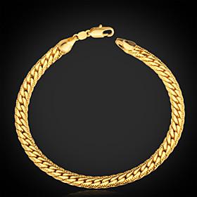 Men's Figaro Chunky Chain Bracelet Vintage Bracelet Bracelet - Platinum Plated, Gold Plated Personalized, Classic, Fashion Bracelet Silver / Golden / Rose Gold