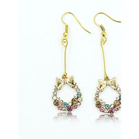 Women's Crystal Drop Earrings - 18K Gold Plated, Rhinestone, Gold Plated European, Fashion Gold For / Imitation Diamond / Austria Crystal
