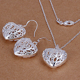Jewelry Set - Cubic Zirconia, Silver Plated Love Party, Cute Include Silver For Party / Earrings / Necklace
